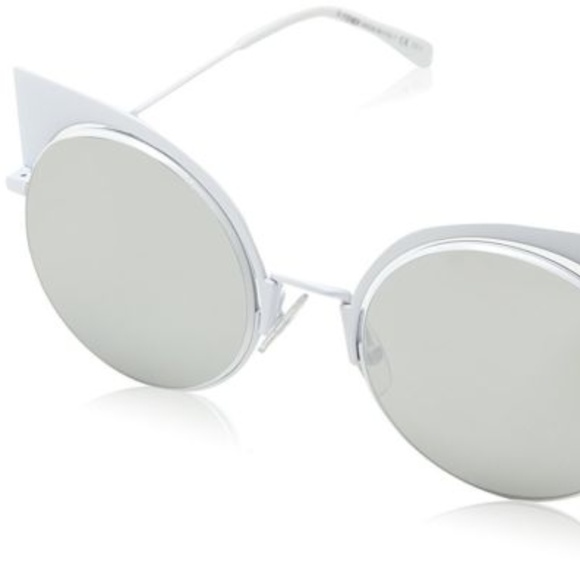 aca13be70cff3 FENDI EYESHINE White with Grey Lenses Sunglasses